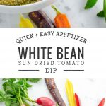 White Bean Dip with Pesto and Sun Dried Tomatoes