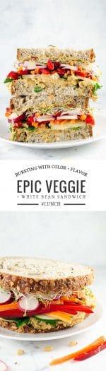 Epic Veggie Sandwich with White Bean Spread | Umami Girl
