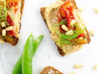 White Bean Crostini with Tomato