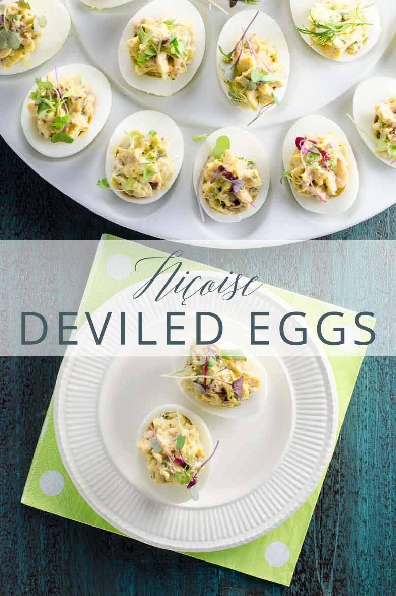 Nicoise Deviled Eggs _ Umami Girl PIN