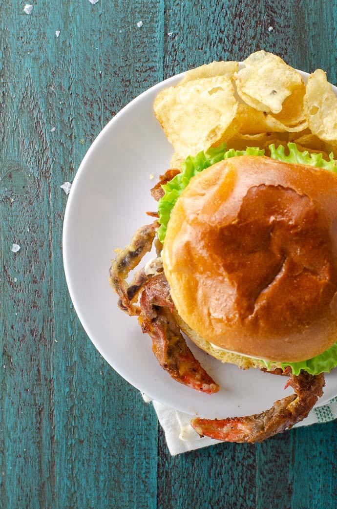 Soft Shell Crab Sandwich Recipe | Umami Girl