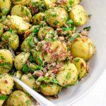 Easy Potato Salad Recipe with Bacon and Herbs No Mayo | Umami Girl