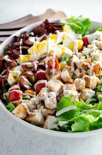Cobb Salad Recipe with Ranch Dressing | Umami Girl