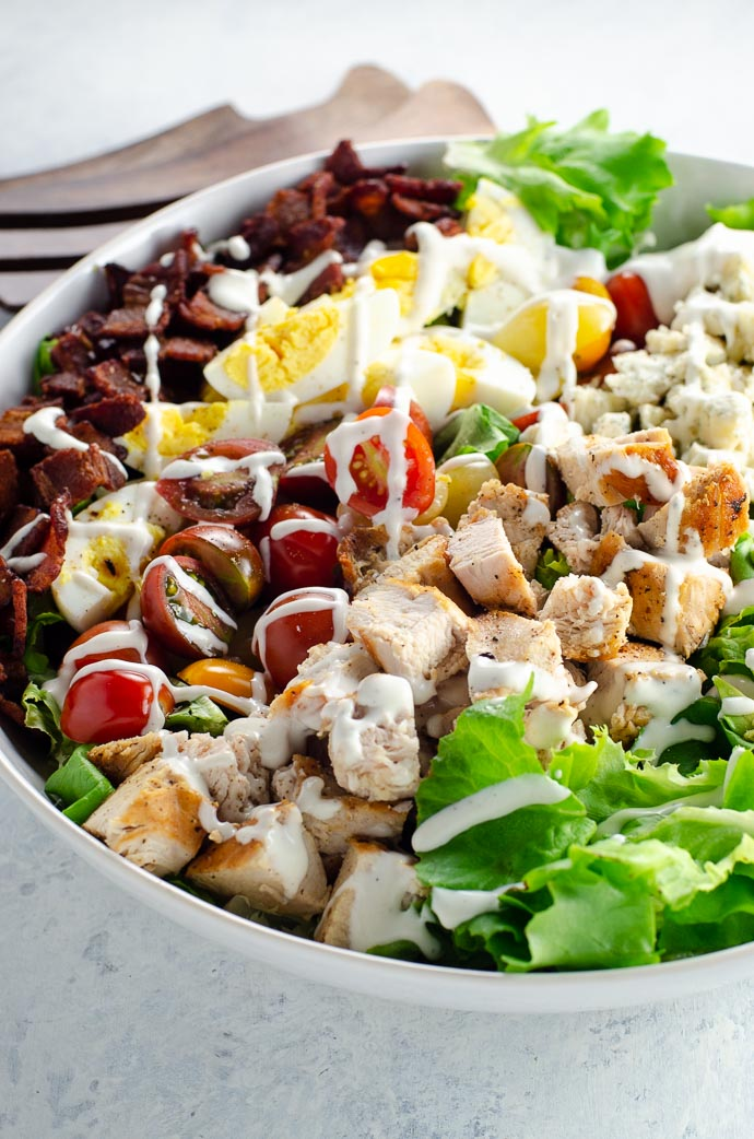 Cobb Salad Recipe with Ranch Dressing | Umami Girl