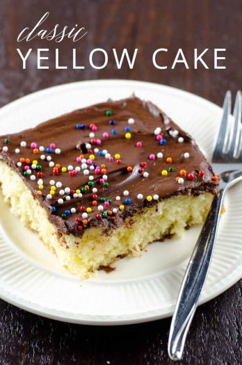 Easy Yellow Cake Recipe _ Umami Girl PIN