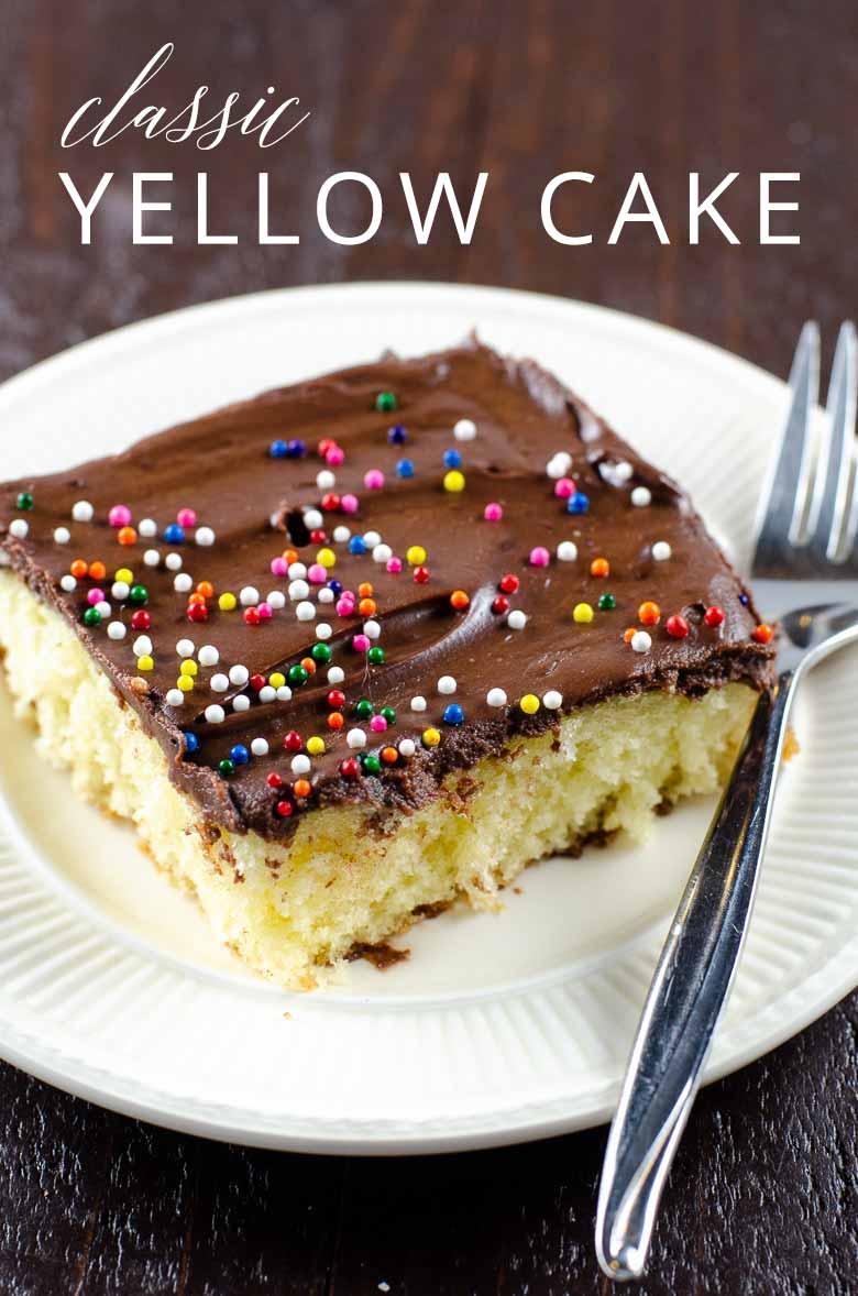 Easy Yellow Cake Recipe _ Umami Girl PIN