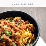 Spaghetti Bolognese Recipe Pin _ Umami Girl