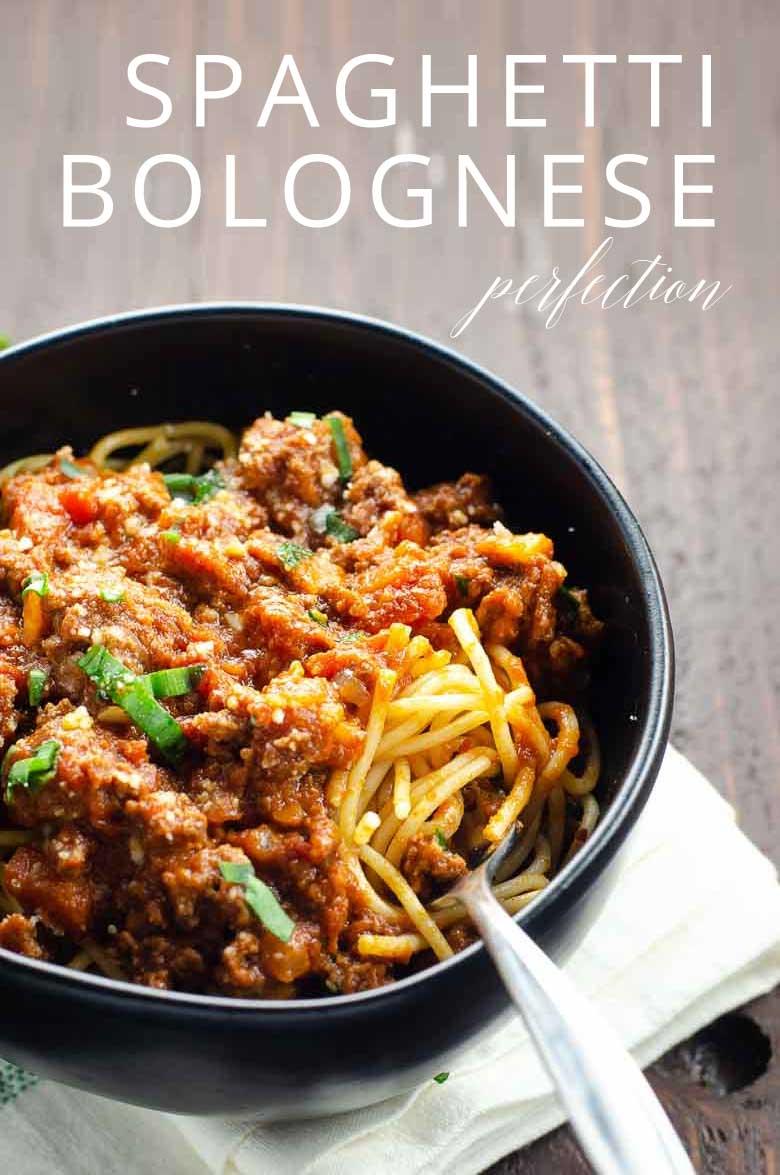 Spaghetti Bolognese Recipe _ Umami Girl PIN