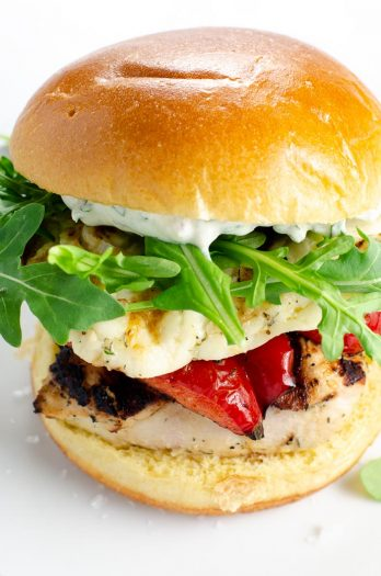 Grilled Chicken Sandwiches with Halloumi   Umami Girl