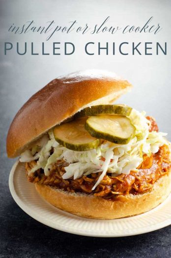 BBQ Pulled Chicken for Instant Pot or Slow Cooker _ Umami Girl PIN
