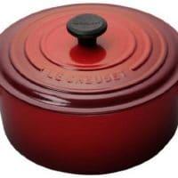 Le Creuset Signature Enameled Cast-Iron 9-Quart Round French (Dutch) Oven, Cerise (Cherry Red)
