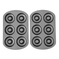 Wilton Non-stick 6-Cavity Donut Baking Pans, Multipack of 2