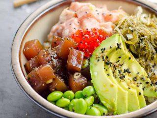 Ahi Tuna and Spicy Salmon Poke Bowl