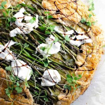 Asparagus Ricotta Burrata Crostata Recipe 780 | Umami Girl-2
