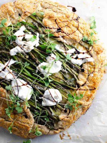 Asparagus Ricotta Burrata Crostata Recipe 780 | Umami Girl-2