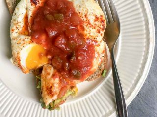 Avocado Toast Fried Eggs with Smoked Paprika and Salsa