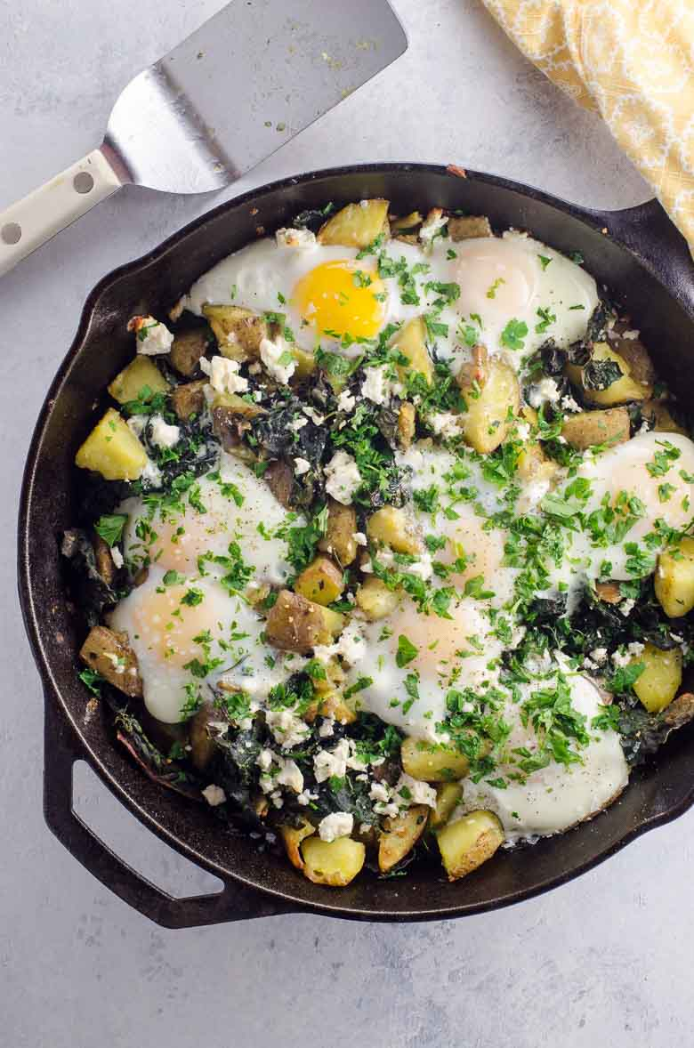 How to cook breakfast potatoes in a cast iron skillet