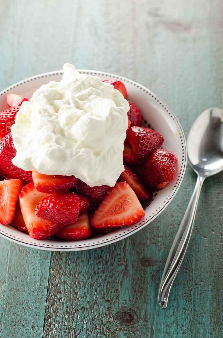 Balsamic Strawberries with Whipped Cream 780 | Umami Girl-2