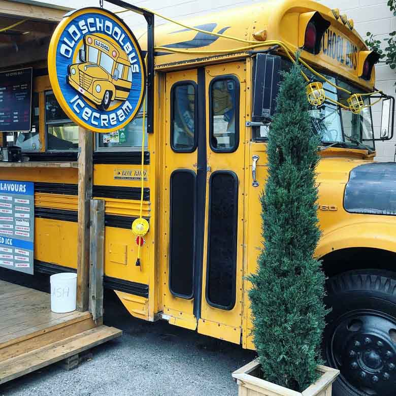Best Restaruants Canmore Alberta Canada Old School Bus Ice Cream 780 | Umami Girl