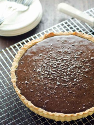 Bittersweet Chocolate Tart with Shortbread Crust 780 | Umami Girl