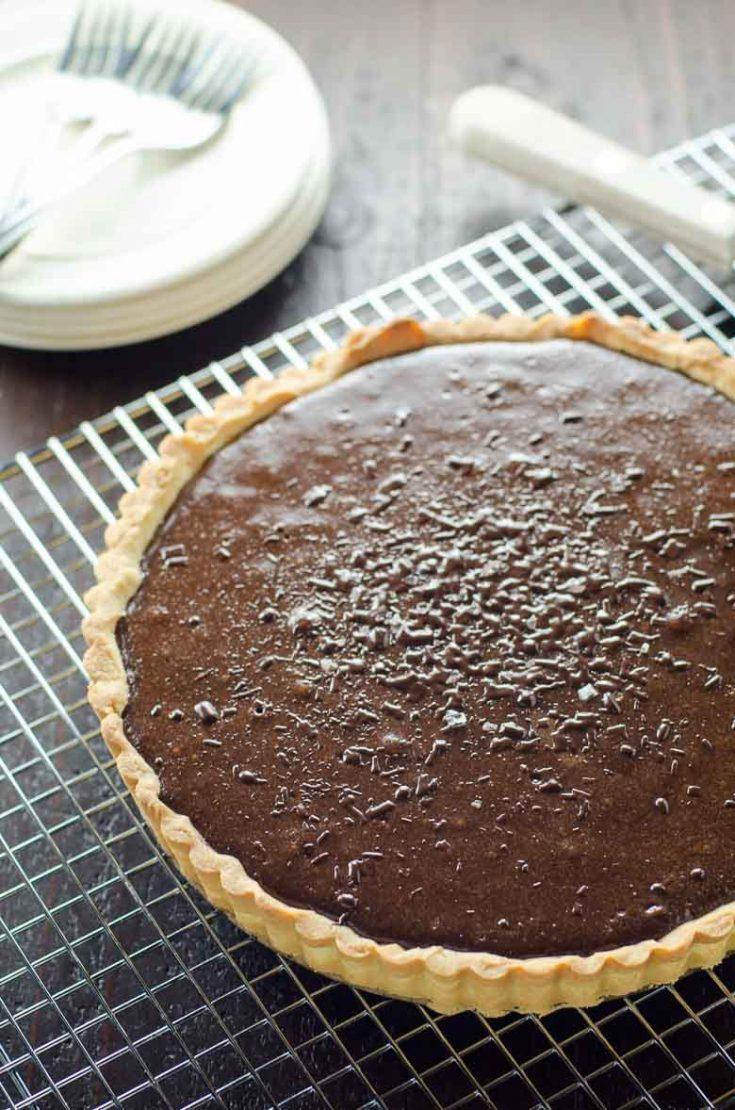 Bittersweet Chocolate Tart with Shortbread Crust