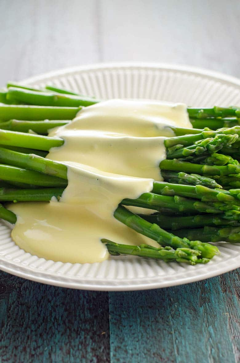 asparagus with immersion blender hollandaise sauce