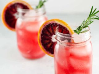 Blood Orange Grapefruit Cocktail with Winter Herbs