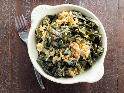 Braised Kale Recipe with Caramelized Onions, Walnuts and Blue Cheese 780 | Umami Girl-2