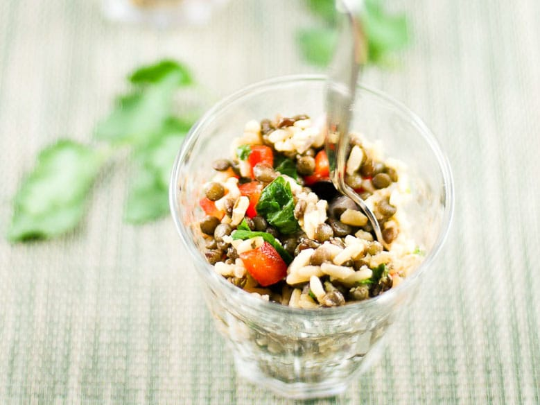 Brown Rice Lentil Salad 780   Umami Girl