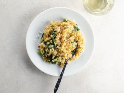 Caramelized Onion, Spinach and Bacon Risotto 780 | Umami Girl-2