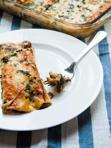 Chicken Enchiladas and Black Bean Zucchini Enchiladas with Creamy Green Chile Sauce 780 _ Umami Girl