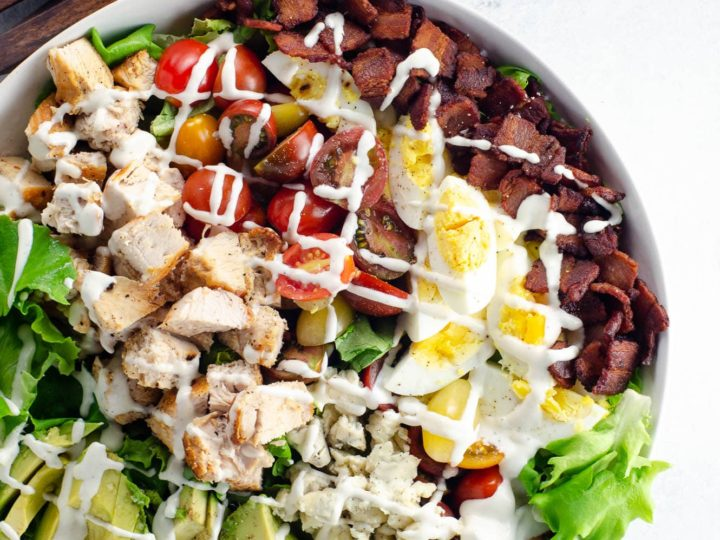 Cobb Salad Recipe with Ranch Dressing