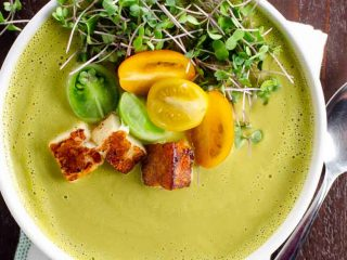 Creamy Asparagus Soup Recipe with Ramps