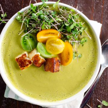 Creamy Asparagus Soup with Ramps or Garlic 780 | Umami Girl