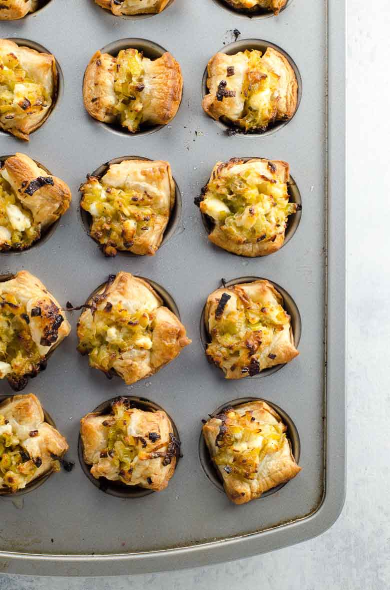 Creamy Leek Puff Pastry Cups Easy Appetizer 780 | Umami Girl