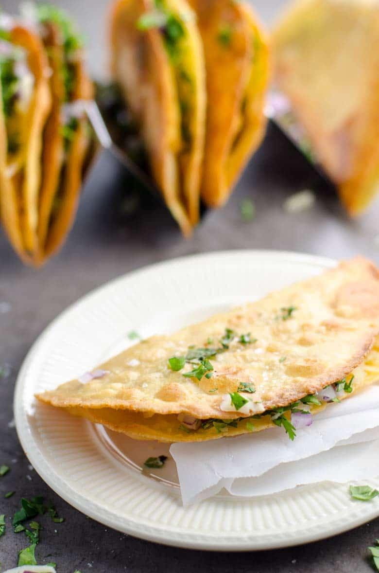 Crispy Potato Tacos (Tacos de Papa) | Umami Girl