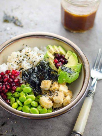 Dressing for Roxane's 20 Minute Vegan Sushi Bowls 780 | Umami Girl