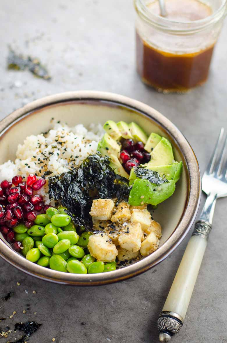 Dressing for Roxane's 20 Minute Vegan Sushi Bowls 780 | Umami Girl