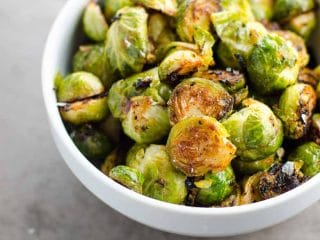 Easy Miso Roasted Brussels Sprouts
