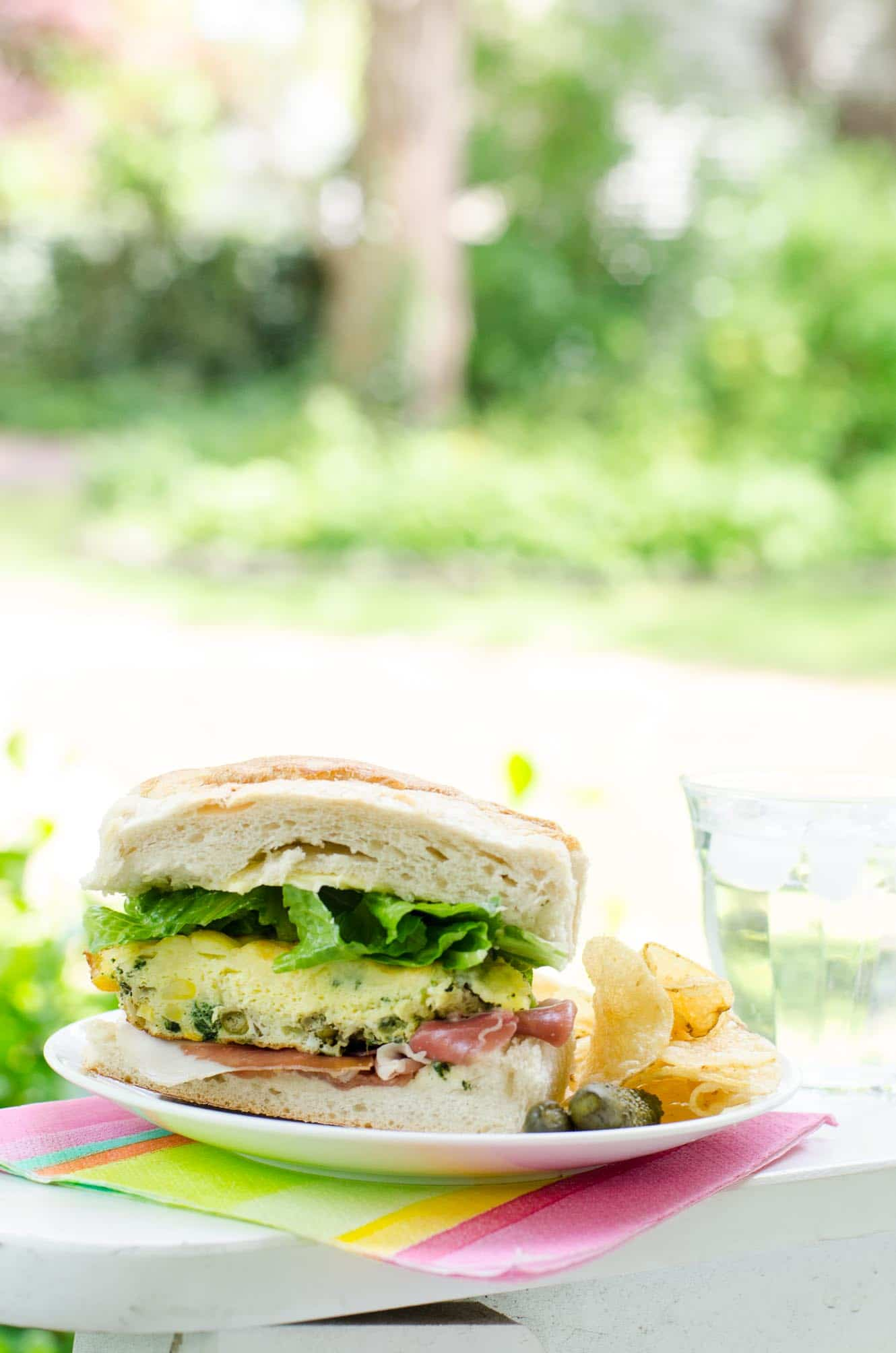 Easy Picnic Food Frittata Sandwich Umami Girl