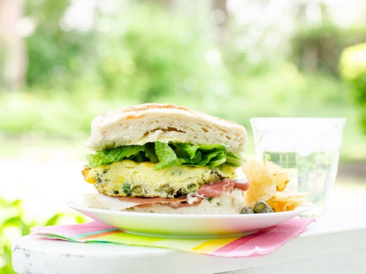 Easy Picnic Food: Frittata Sandwiches