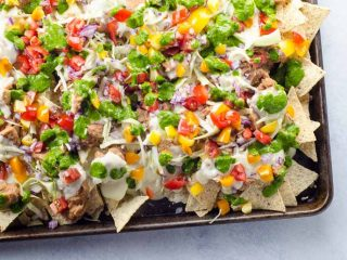 Easy Vegetarian Nachos Recipe with Creamy Cheese Sauce