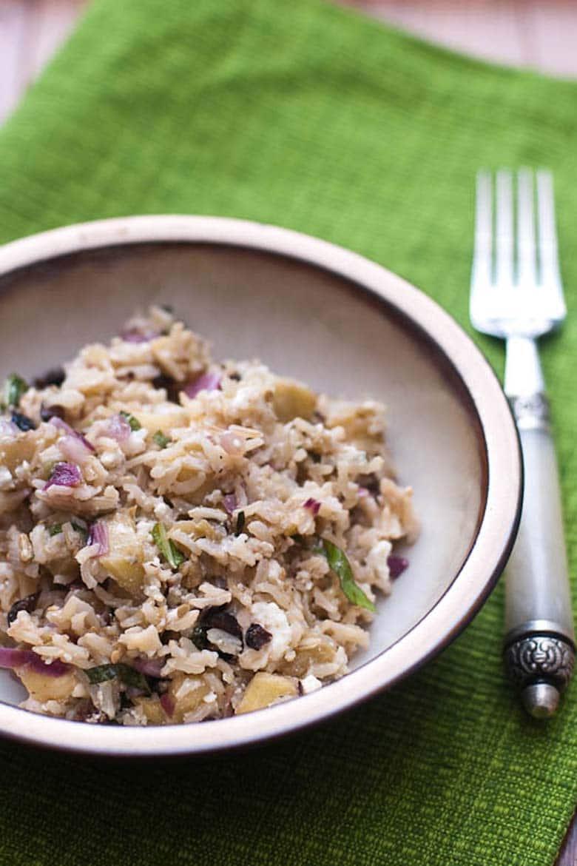 Eggplant and Brown Rice Salad 780 _ Umami Girl