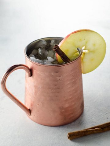 Fall Cocktail Apple Cider Moscow Mule