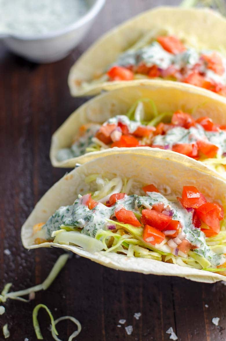 Garlic Shrimp Tacos Inspired by Surf Taco | Umami Girl