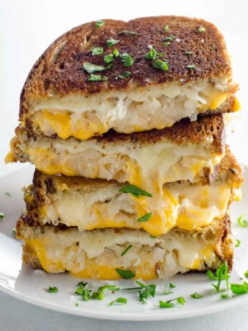 Grilled Cheese with Sauerkraut and Dijon