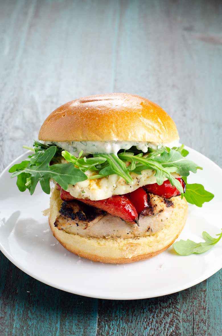 Grilled Chicken Sandwiches with Halloumi 780   Umami Girl