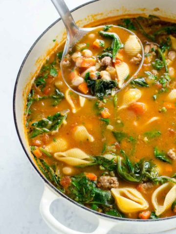 Italian Sausage Soup with Beans and Spinach 780 | Umami Girl-2