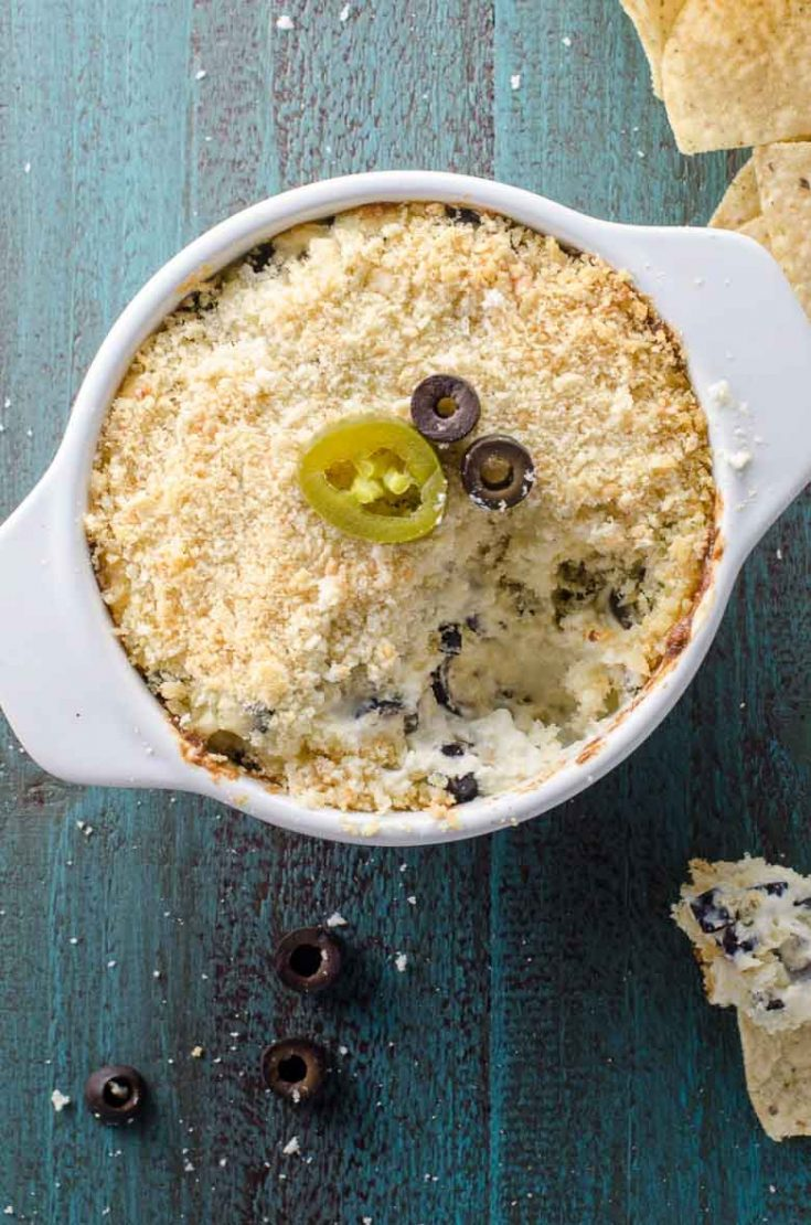 Jalapeño Popper Dip with Olives for Game Day