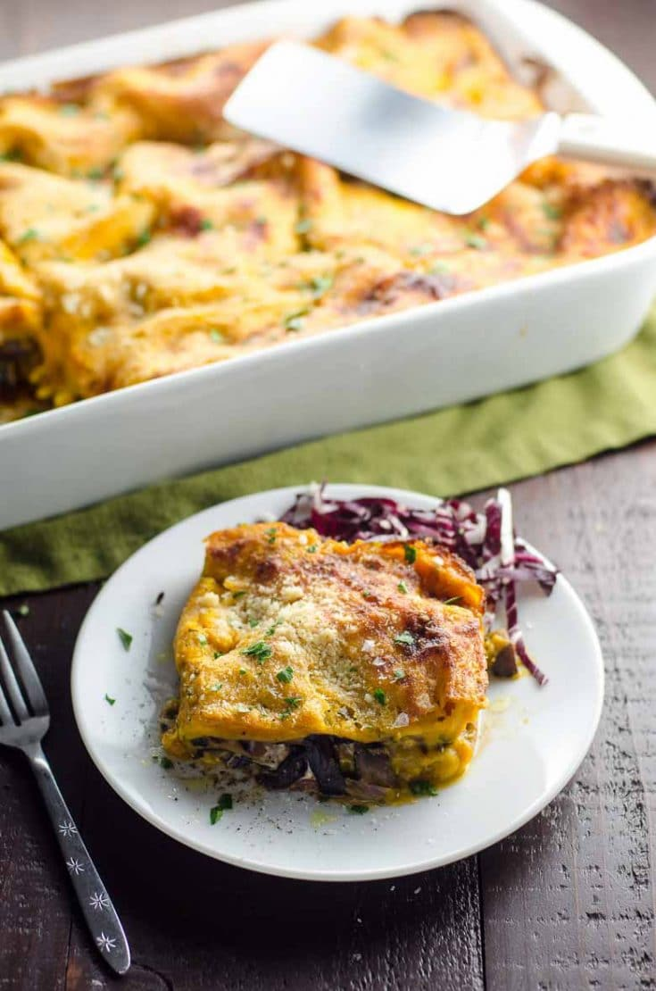 Kabocha Squash Lasagna: Vegetarian Thanksgiving Main